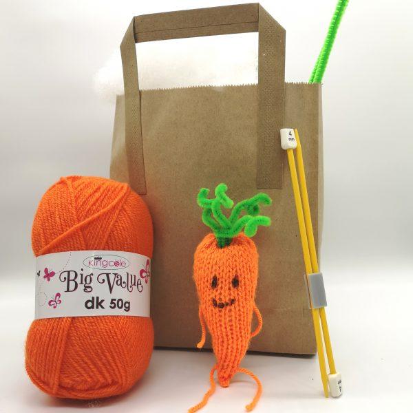 carrot knitting kit